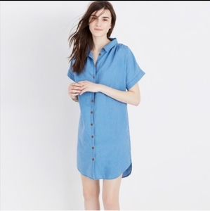 Madewell Indigo Central Shirt Dress